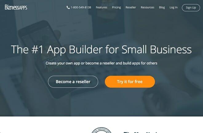 BiznessApps website