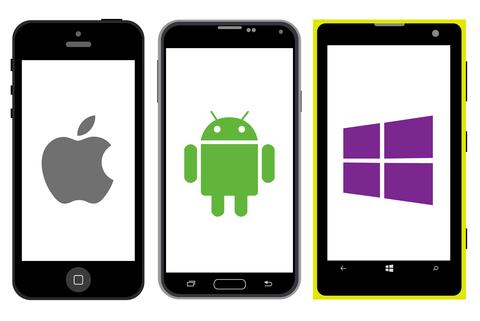 android, windows en apple telefoon