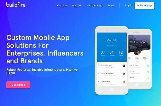 BuilFire mobile app builder screenshot