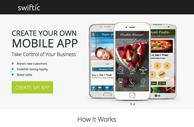 Swiftic mobile app builder